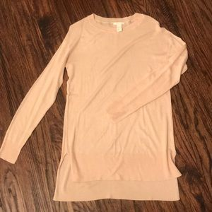 H&M light pink lightweight soft thin sweater
